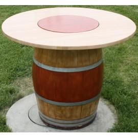 TABLE AVEC PLATEAU TOUNANT